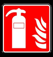 Dieses Symbol kennzeichnet den Standort des Feuerlöschers