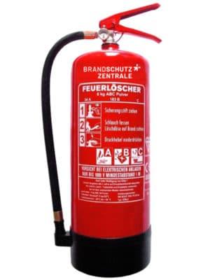 Pulverfeuerlöscher 6kg inkl. Wartung und Service mieten