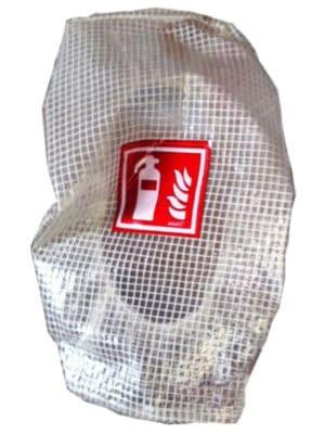 Schutzhaube für Feuerlöscher