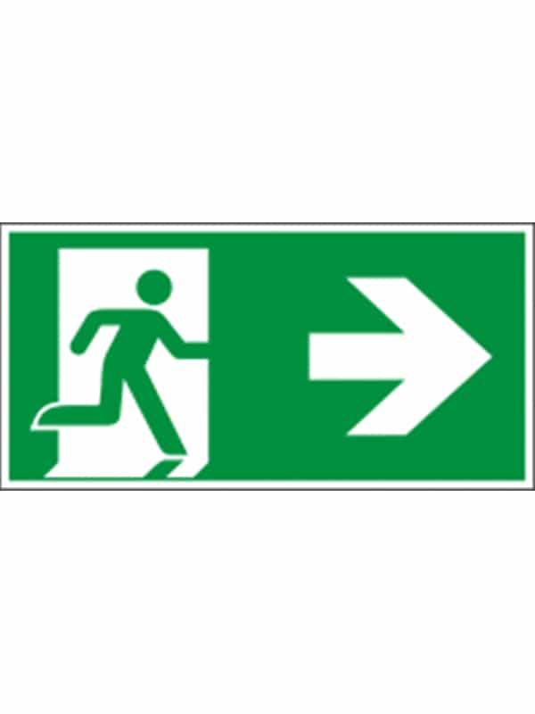 Rettungswegschild nach rechts