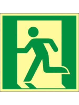 Rettungswegzeichen nach links