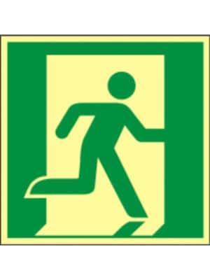 Rettungswegzeichen nach rechts