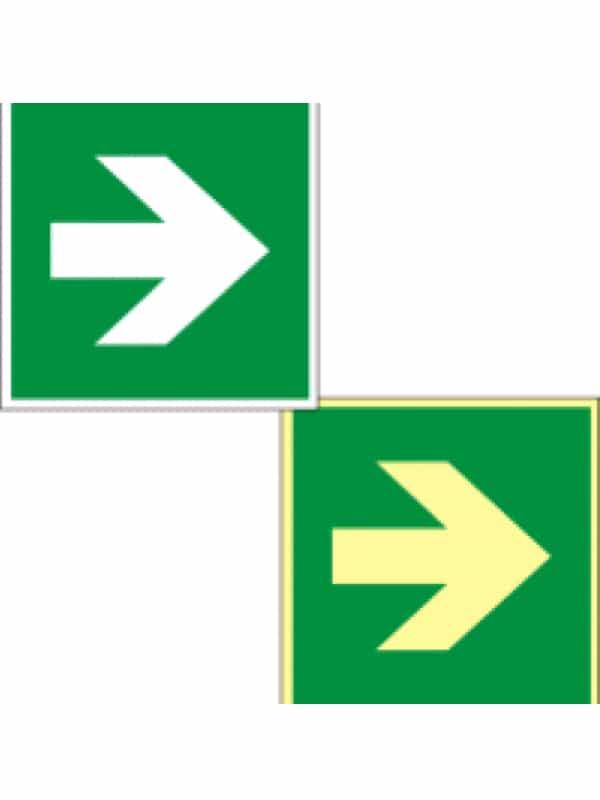 Rettungszeichen Hinweispfeil für Richtung