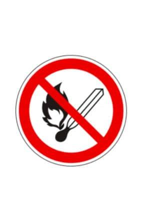 """Verbotsschild """"Feuer ,offenes Licht und Rauchen verboten"""""""