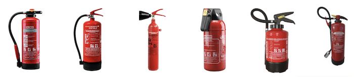 Übersicht Feuerlöscher